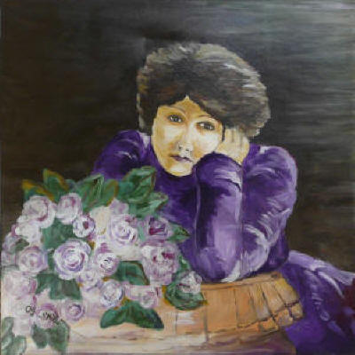 Girl in Purple